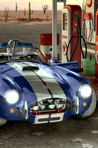 Classic looking blue cobra