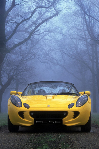 Lotus Elise in yellow