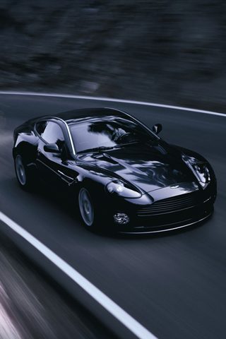 Aston Martin in black