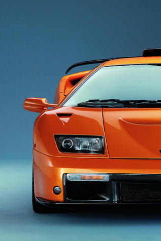 Classic supercar in Orange