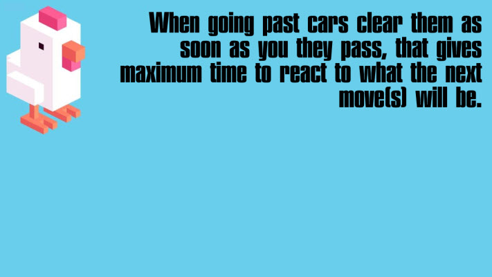 Get past cars quickly
