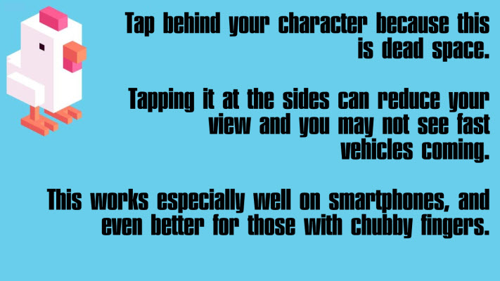 Tap behind character