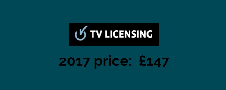 2017 price of TV License