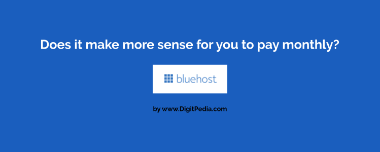 Pay monthly on bluehost