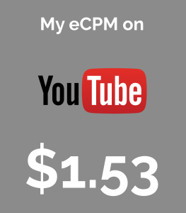 My Youtube ecpm