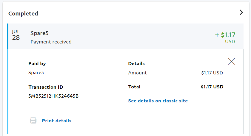 Spare5 payment proof