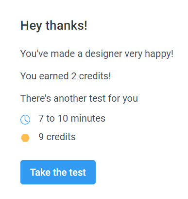 High Paying User Testing